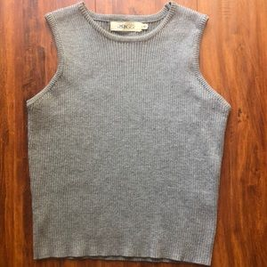 Hanger gray rubbed high neck crop top, size Large